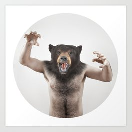 Therianthrope - Angry Bear Art Print