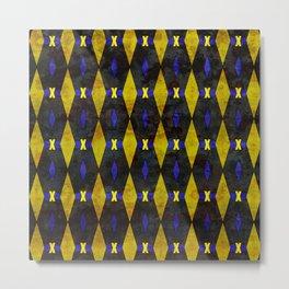 X Pattern Metal Print