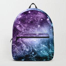 Purple Teal Galaxy Nebula Dream #4 #decor #art #society6 Backpack