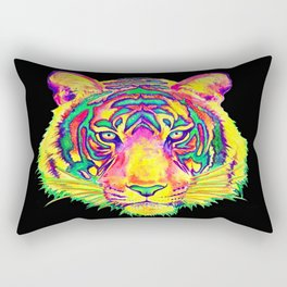 Psychedelic Tiger Rectangular Pillow