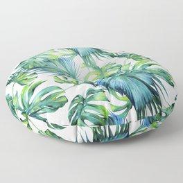 Blue Jungle Leaves, Monstera, Palm #society6 Floor Pillow