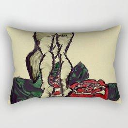 Bent Over Rectangular Pillow