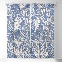 Hawaiian tribal pattern II Sheer Curtain