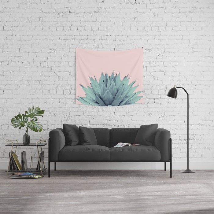 Agave Blush Summer Vibes #1 #tropical #decor #art #society6 Wall Tapestry