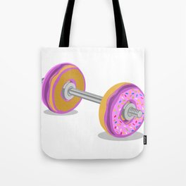 Donut Weight Artwork Tote Bag