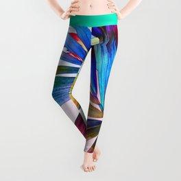 Multicolor Palm Leaf Leggings