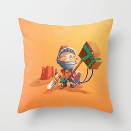 Knight Boy Throw Pillow