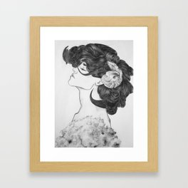 Lady of the Lambs Framed Art Print