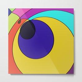 Abstract pop art spiral Metal Print