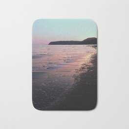 Glitched Sunset on the Ocean Bath Mat