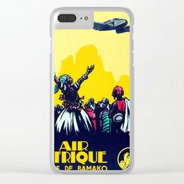 Ligne De Bamako - Vintage Air Africa Travel Poster Clear iPhone Case
