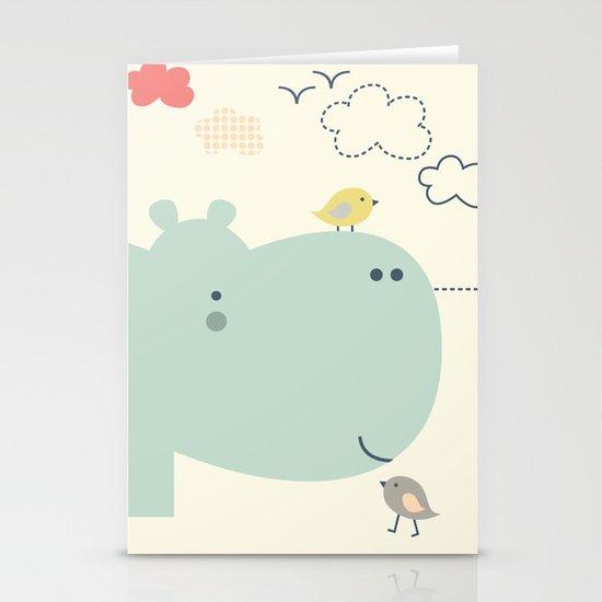 Hippy Hippo Stationery Cards