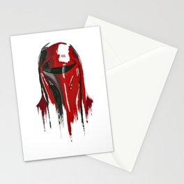 Procrastination in red 3 Stationery Cards