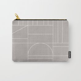 Deco Geometric 04 Grey Carry-All Pouch