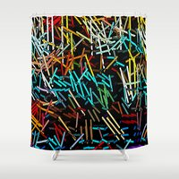 letters Shower Curtains featuring :: Love Letters :: by :: GaleStorm Artworks ::