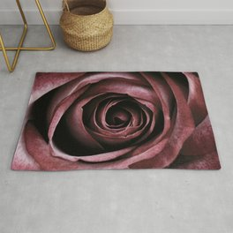 Decorative Red Rose Floral Rug