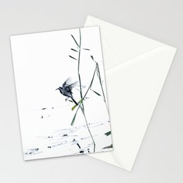 Little Bird (Wagtail - Eurasian Songbird) by The Reeds #decor #society6 #buyart Stationery Cards
