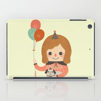ballon iPad Cases featuring Hold The Happy Ballon by Minifanfan