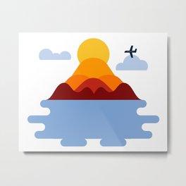 Fall Airplane Ride Metal Print