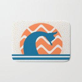 Hang Loose Wave // Sun Surfer Shaka Beach Retro Graphic Design Horizontal Daze Waves Bath Mat