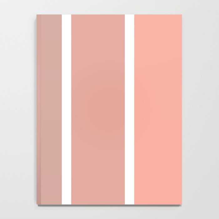 coral fade rectangles Notebook