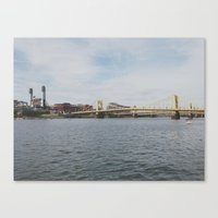 pittsburgh Canvas Prints featuring PITTSBURGH by Sara Miller