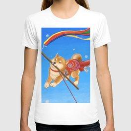 Koi Nobori Shiba Inu T-shirt