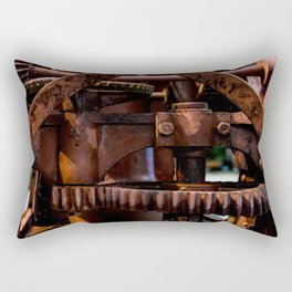 Gears of The Old Rusty Ship Crane Rectangular Pillow
