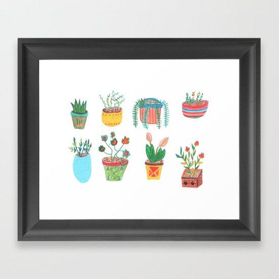 Plants. Framed Art Print