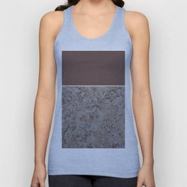 Brown Meets Brown Gray Concrete #1 #decor #art #society6 Unisex Tank Top