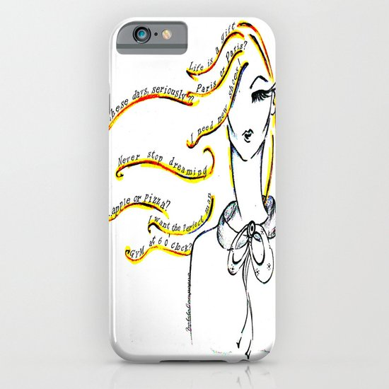 """Words in my head"" iPhone & iPod Case"