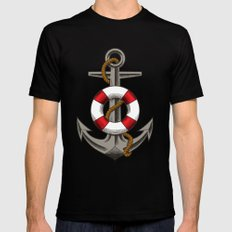 BOAT UNKER Mens Fitted Tee Black MEDIUM