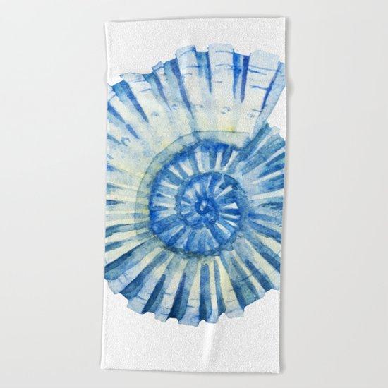 Blue Sea Snail Beach Towel