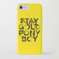 stay gold iPhone & iPod Cases featuring Stay Gold by Lucas Young