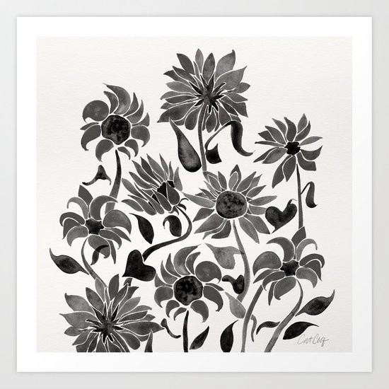 Sunflowers – Black Palette by catcoq