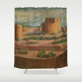 Spanish Fortress AC160703a Shower Curtain