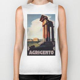 Vintage 1920s Agrigento Italian travel ad Biker Tank