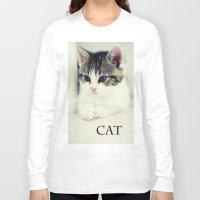cat coquillette Long Sleeve T-shirts featuring Cat by Falko Follert Art-FF77