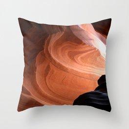 Antelope Canyon Reddish And Blue Tones Throw Pillow