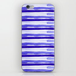 Ultra Violet Watercolour Stripes iPhone Skin