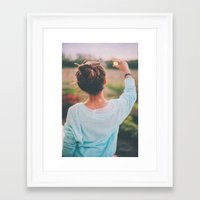tumblr Framed Art Prints featuring Tumblr by Amanda Lily
