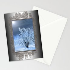 Hoar Frost on the Lilac Bush Stationery Cards