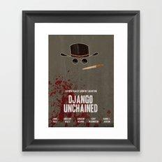 Django Unchained Movie Poster Framed Art Print