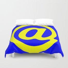 Arroba blue yellow Duvet Cover
