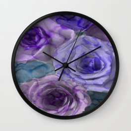 Water Color Roses 1 Wall Clock