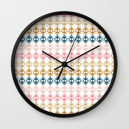 Modern Geometric Pattern Wall Clock