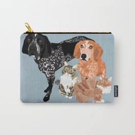 Lady, Blue, Leo and Butch Carry-All Pouch