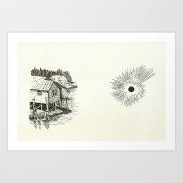 Stilted House/ Black Sun Art Print