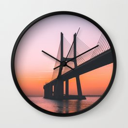 Lisbon, Portugal #society6 #decor #buyart Wall Clock