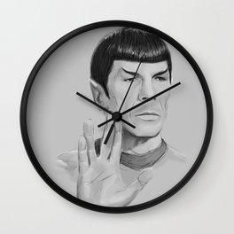 Spock Portrait Star Trek Wall Clock